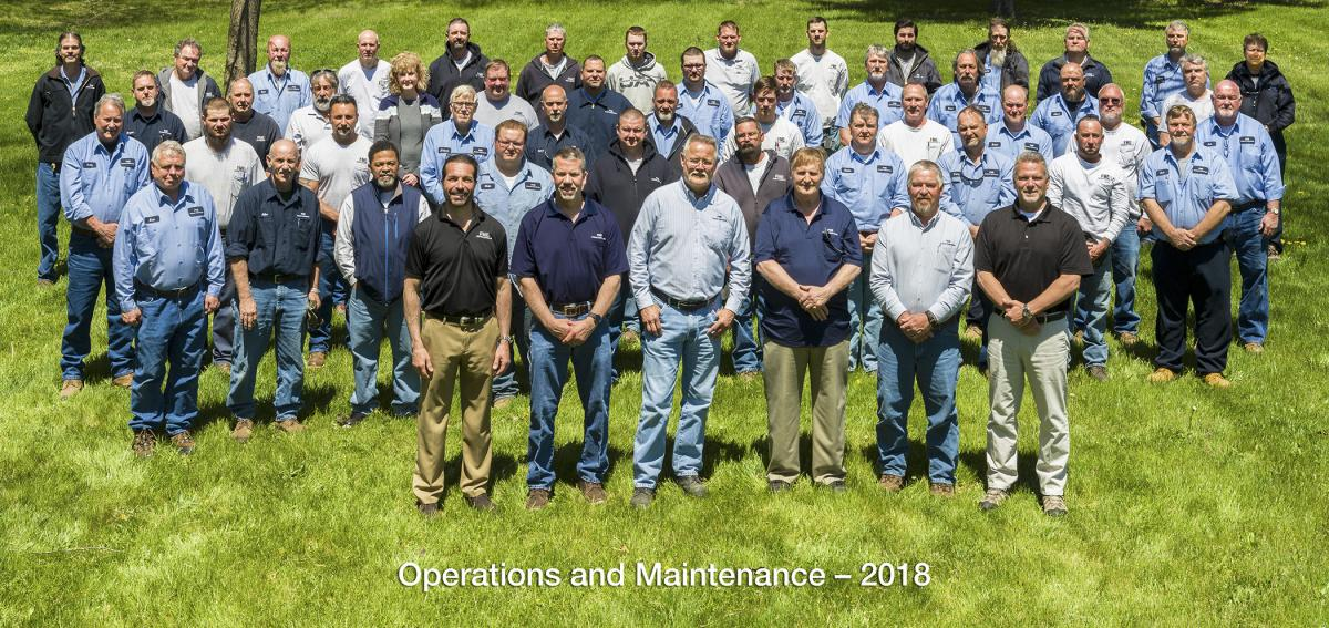 Group photo of the Operations and Maintenance staff