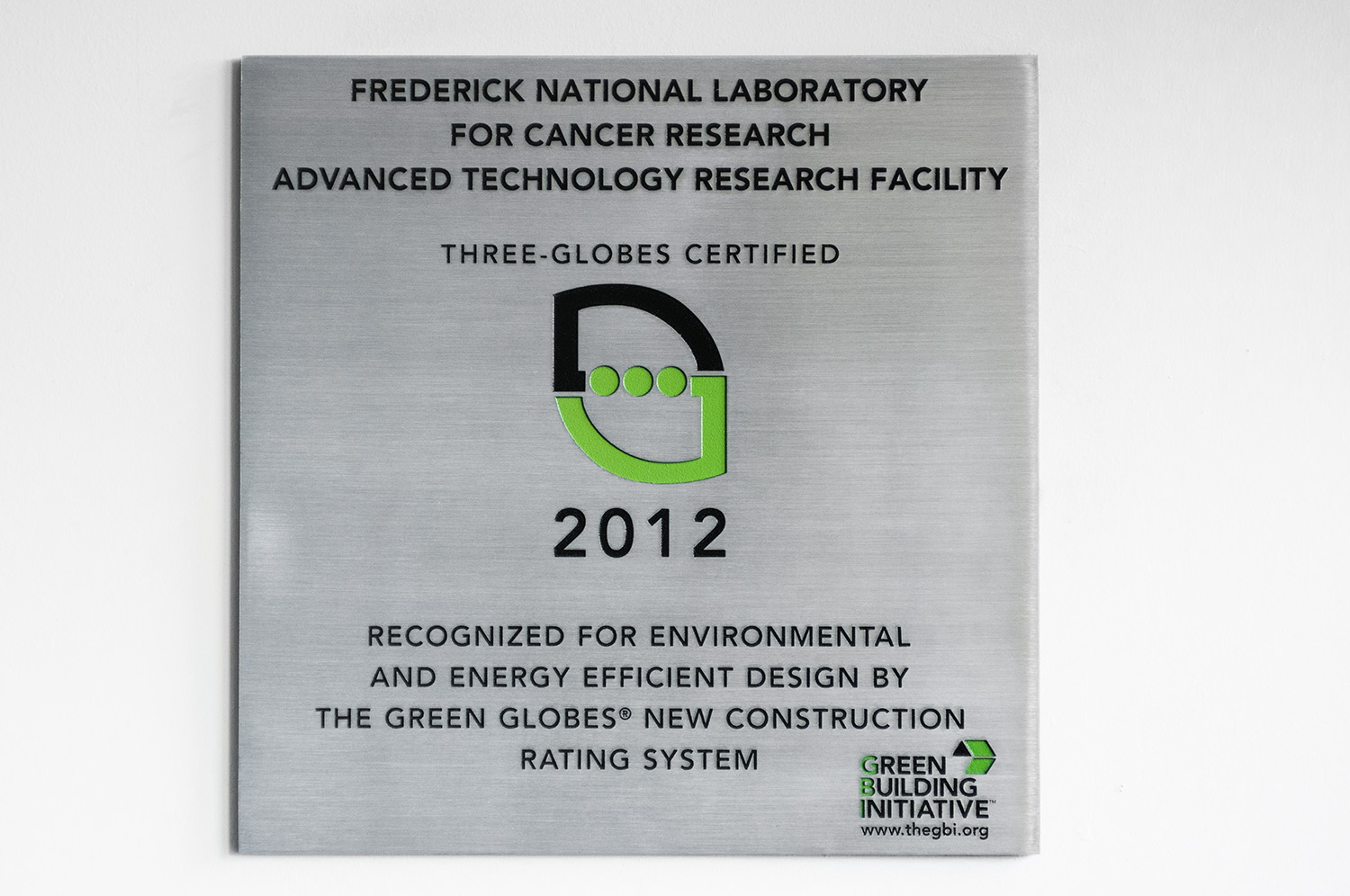 Atrf earns three green globes exceeds nih building standards poster xflitez Choice Image