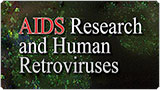 AIDS RESEARCH AND HUMAN RETROVIRUSES graphic