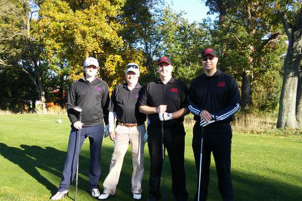 From left: Tom Pfister, Larry Arthur, Marc Foltz, and Shane Herbert