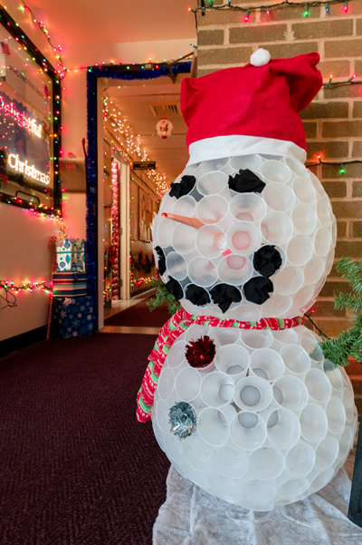 """The entryway to Protective Services' """"deLIGHTful Christmas"""""""