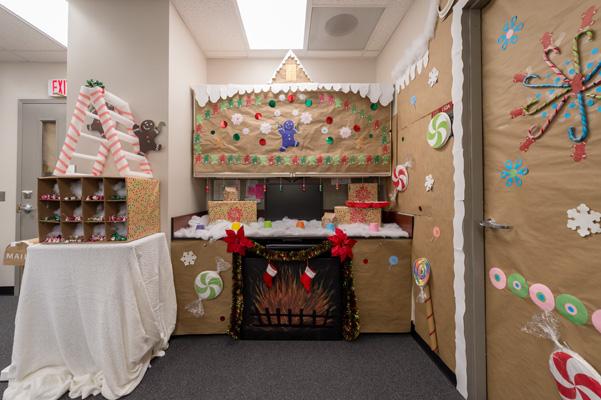 "Part of Building 469's ""Gingerbread Candyland"""