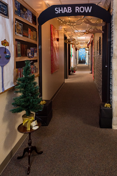 """Building 310's rendition of Shab Row, part of """"Frosty Frederick, Inside and Out"""""""
