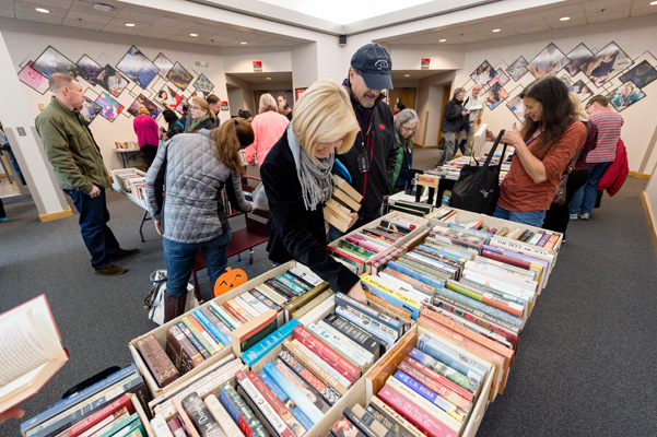 Scenes from the 17th Annual Book and Media Swap.
