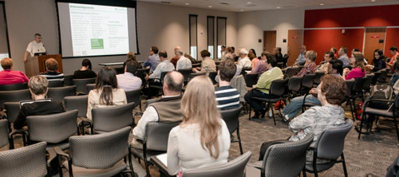 Scott McNeil presents during the Mid-Atlantic Directors and Staff of Scientific Cores Conference held at the Advanced Technology Research Facility in 2013. File photo.