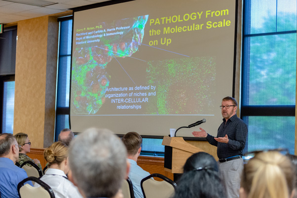 "Dr. Garry Nolan, Stanford University School of Medicine, presented ""Pathology from the Molecular Scale on Up"" in the Community Activities Center (CAC)."