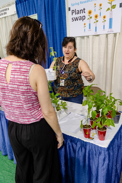 The Plant Swap at the 2018 Spring Research Festival Biomedical Exhibit Tent.