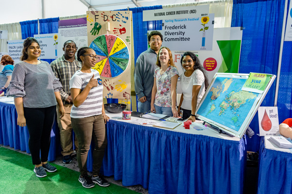 2018 Spring Research Festival Biomedical Exhibit Tent.