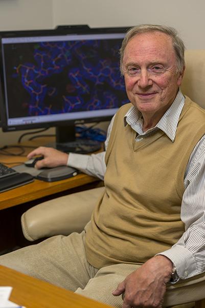 Twenty-nine years later, Wlodawer still loves to examine molecular structures. (Photo by Samuel Lopez)