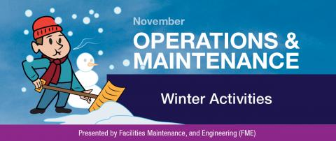 Operations and Maintenance Winter Activities Newsletter Banner