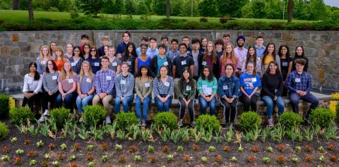 The 2019 incoming class of Werner H. Kirsten student interns