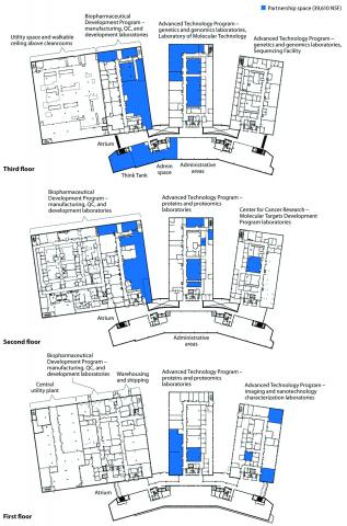 Floor plans for partner space.