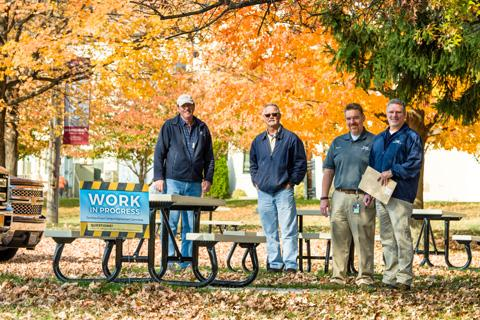 Mike Addington (right) and the Campus Improvement Committee have been working hard to improve the NCI at Frederick campus and provide a pleasant work environment.
