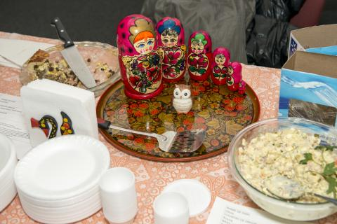 Russian food arrangement.