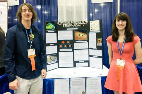 Students with poster.
