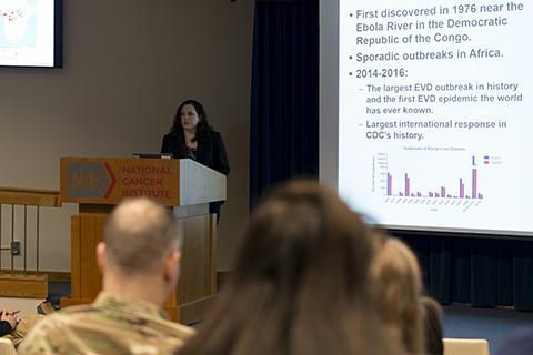 Photo of NBTCC's Victoria Wahl delivering her lecture