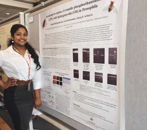 Smruti presents at the Student Poster Days event.