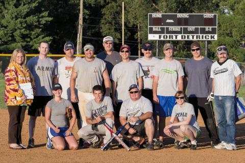 Winning softball team