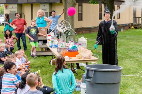 science magic show at Take Your Child to Work Day 2018
