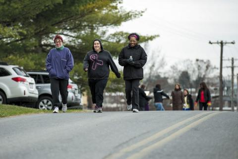 People walking at the Take A Hike event