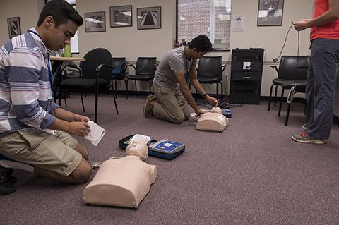 WHK Intern Robert Byers at first aid training