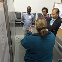 A representative image of the poster session at the Spring Research Festival.