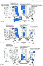 Floor plans for partner space.