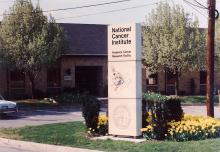 Facility sign with map.