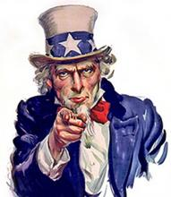 Uncle Sam pointing his finger.