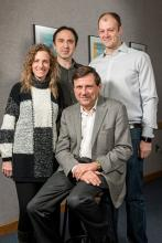 Group photo of four scientists
