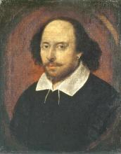 Oil painting of William Shakespeare.