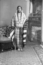 A photograph of a Sioux Indian