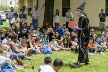 Scientist/Wizard magic show.