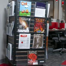 a picture of a journal rack