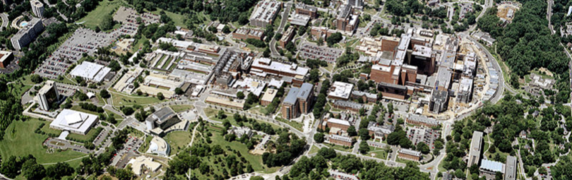 NIH Campus Bethesda MD. Aerial View